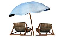 Beach chairs - stock illustration