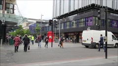 14 June, 2015, streets of Glasgow, Scotland, HD footage Stock Footage