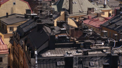 Roof ridges in the old town, Stockholm, Sweden. Stock Footage