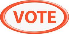 Button vote - stock illustration