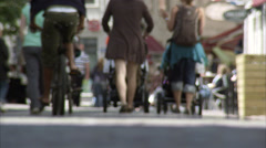 People walking on a street in Gothenburg, Sweden. Stock Footage
