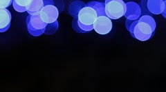 Christmas background with luminous garland. - stock footage