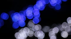Christmas background with luminous garland. Stock Footage