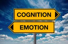Cognition versus Emotion, Concept of Choice - stock photo