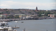 Gothenburg harbour entrance, Sweden. Stock Footage