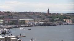 Gothenburg harbour entrance, Sweden. Stock Footage