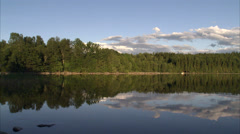 Calm sea, Smaland, Sweden. Stock Footage