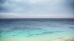 Seascape at bozcaada in turkey - stock footage