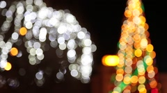 Christmas background with luminous garland. Arkistovideo