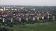 Aerial view of Malmo, Sweden. Stock Footage
