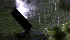 Raining in the park / Detail / 100 fps (3/3) Stock Footage