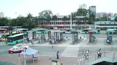 Traffic landscape of Nantou Shenzhen station Stock Footage