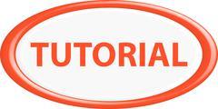 Stock Illustration of Button tutorial