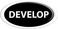 Button develop - stock illustration