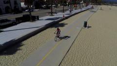 Aerial of bike lane Stock Footage