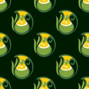 Seamless pattern of olive oil in jugs - stock illustration