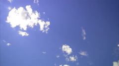 White clouds on the blue sky, Sweden. Stock Footage