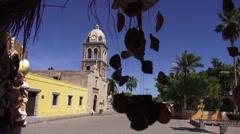 Antique Church in Mexico with Chimes - stock footage
