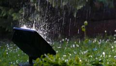 Raining in the park / Detail / 100 fps (1/3) Stock Footage
