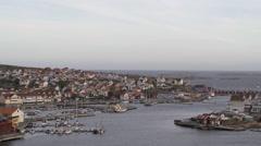 Town by the ocean, Smogen, Bohuslan, Sweden. Stock Footage