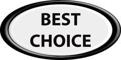 Button best choice - stock illustration