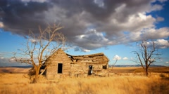 Abandoned Homestead Cabin in Eastern Washington, 4K Time Lapse Stock Footage