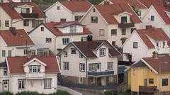 Houses in Smogen, Bohuslan, Sweden. Stock Footage
