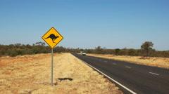 kangaroo road sign - stock footage