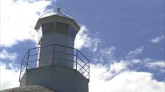 A lighthouse a sunny day, Bohuslan, Sweden. Stock Footage