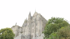 Architecture of Mont-Saint-Michel island located in french region of Normandy 4K Stock Footage