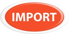 Button import - stock illustration