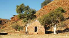 Old outback building Stock Footage