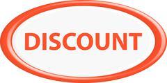 Button discount 3d Stock Illustration
