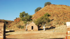 old outback building zoom - stock footage