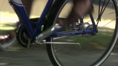 Bicycle hub, close-up, Sweden. Stock Footage