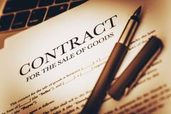 Digital Goods Sale Contract - stock photo