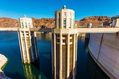 Hoover Dam Intake Towers Closeup Kuvituskuvat