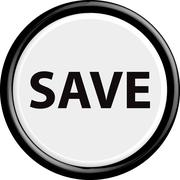 Button save - stock illustration