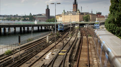 The subway in Stockholm, Sweden. Stock Footage