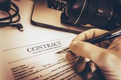 Photography Services Contract - stock photo
