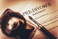 Pre Divorce Agreement Document - stock photo