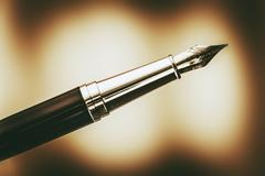 The Fountain Pen in Browny Sepia Color Grading. Stock Photos