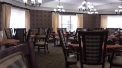 Assisted living dining room Stock Footage