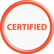 Button certified Stock Illustration
