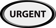 Button urgent Stock Illustration