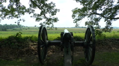 Confederate Cannon Pointing Towards Union Positions Stock Footage