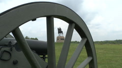 General Meade through Cannon Wheel Stock Footage