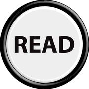 Button read - stock illustration