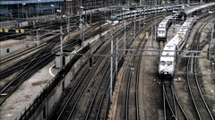 Train services, Stockholm, Sweden. - stock footage
