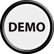 Button demo - stock illustration